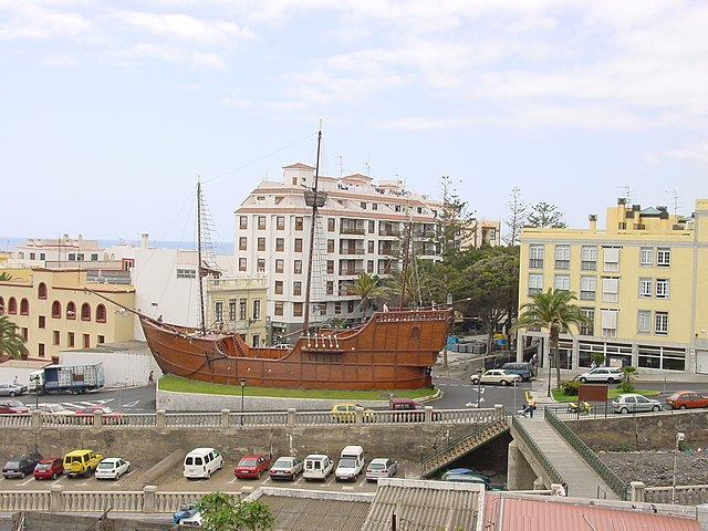 Ship Santa Maria in Santa Cruz de La Palma (Spain). Photo by Stephan M. Höhne.