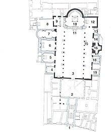 Planimetria della chiesa