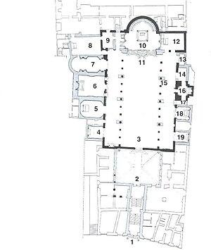 Santa Prassede - Image: Santa Prassede plan