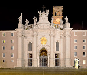 Santa Croce in Gerusalemme - Image: Santa croce di gerusalemme at Night