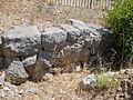 Santuario di Monte Sant'Angelo. Terrazza mediana. Muro in opera poligonale appartenente alla prima fase del santuario (IV sec. a.C.) 2.JPG