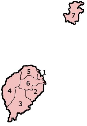 Districts of São Tomé and Príncipe - Districts of São Tomé and Príncipe