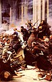 Sarogassa 10 february 1809 assault by the french by harold piffard.jpg