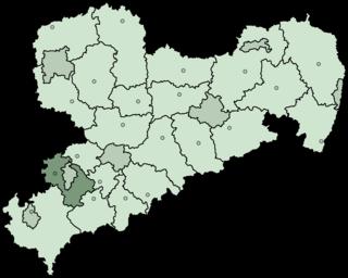 Zwickauer Land District in Saxony, Germany