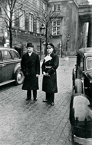 Denmark in World War II - Erik Scavenius, Danish PM 1942–43 with Werner Best, the German plenipotentiary in Denmark.