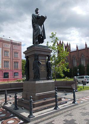 Statue of Karl Friedrich Schinkel, Berlin - The statue in 2012