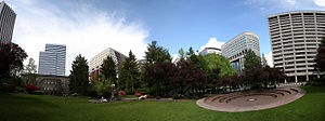 Terry Schrunk - Terry Schrunk Plaza in Portland, Oregon.