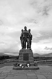 The Commando Memorial located in the Scottish Highlands.