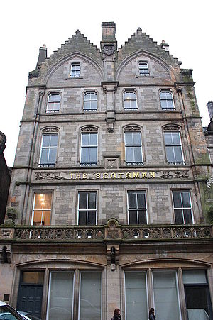 The Scotsman - Scotsman Office 1860 by Peddie and Kinnear
