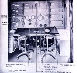 SCR-584 radar - Operators console for the SCR-584.