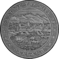 Seal of Oakland, California (1874).png
