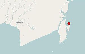 Sebuku Island, Borneo map.JPG