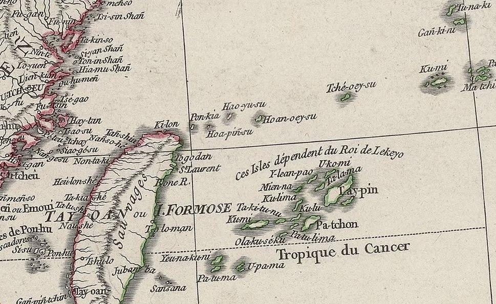 Seconde partie de la carte d'Asie contenant la Chine et partie de la Tartarie (Senkaku)