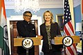 Secretary Clinton Delivers Remarks With Indian Foreign Minister Krishna (7370490558).jpg