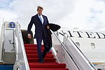 Secretary Kerry Disembarks From His Plan After Landing at Joint Andrews Base Following the World Economic Forum in Davos (31552679404).jpg