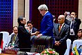 Secretary Kerry Greets Singapore Foreign Minister Vivian Pramudwinai in Vientiane, Laos (27920200494).jpg