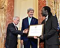Secretary Kerry Looks on as Senator Corker Shakes Hands With 2016 TIP Report Hero Issa Kouyate of Senegal in Washington - Flickr - U.S. Department of State.jpg