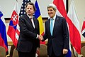 Secretary Kerry Shakes Hands With Dutch Foreign Minister Koenders Before Bilateral Meeting at NATO Headquarters in Belgium (15930850185).jpg