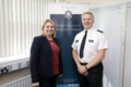 Secretary of State Karen Bradley MP met PSNI at PSNI Strand Road to pay tribute and acknowledge their efforts in dealing with recent challenging circumstances in the city (41992397560).png