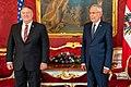 Secretary of State Michael R. Pompeo meets with Austrian President Alexander Van der Bellen (50226122841).jpg