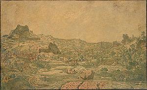 Hercules Seghers - Image: Seghers mesto s ctyrmi vezemi