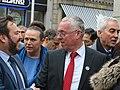 Senator Pádraig Mac Lochlainn & Seán Lynch MLA outside the Dáil100 event (46112395694).jpg