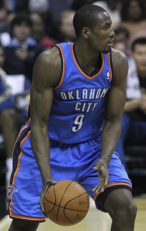 English: Serge Ibaka, basketball player from O...