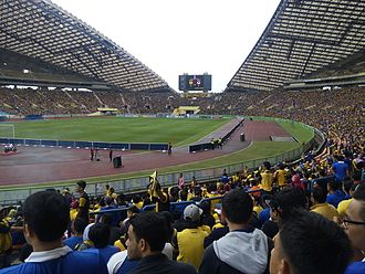 2007 AFC Asian Cup - Image: Shah Alam Stadium (inside)