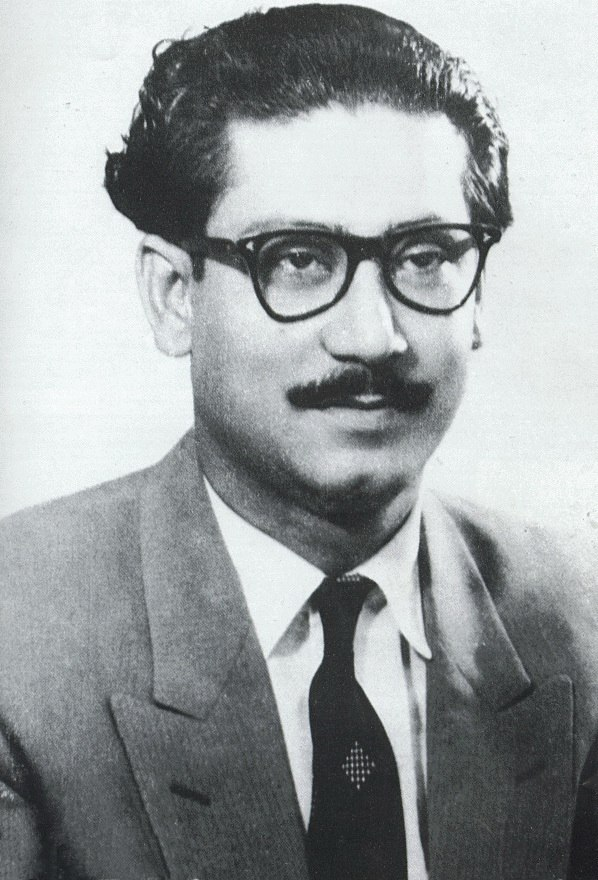 Sheikh Mujibur Rahman in 1950