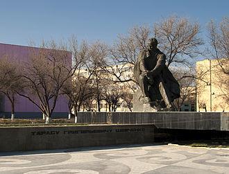 Aktau - Shevchenko monument in Aktau