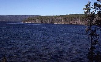 Shoshone Lake - Shoshone Lake in 1988
