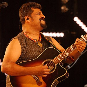 Raghu Dixit - Raghu Dixit on stage at Shrewsbury Folk Festival 29 August 2016