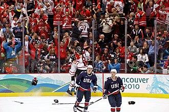 Drew Doughty - Image: Sidney Crosby 2010Winter Olympicscelebration
