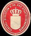 Siegelmarke General - Direction der Gr. Bad. Staatseisenbahnen W0219183.jpg