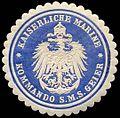 Siegelmarke Kaiserliche Marine - Kommando S.M.S. Geier W0239768.jpg