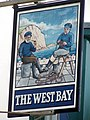 Sign for the West Bay - geograph.org.uk - 1395682.jpg