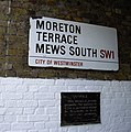 Signs at entrance to Moreton Terrace Mews South - geograph.org.uk - 1161665.jpg