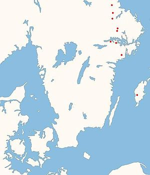 Sigurd stones - The geographic distribution of the Sigurd stones.