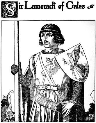 Lamorak - Sir Lamorack of Gales, Howard Pyle's illustration for The Story of the Champions of the Round Table