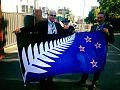Sir Richard Hadlee and Lockwood silver fern flag.jpg