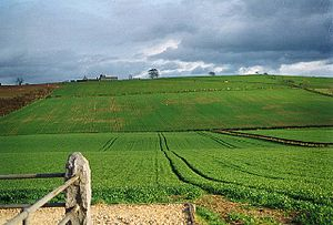 English: Site of the Battle of Flodden Field. ...