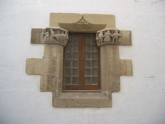 Maricel Museum - window of the Maricel Palace