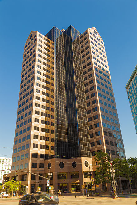 Chase offices and branch in One Utah Center tower in Salt Lake City Slc utah one center.jpg
