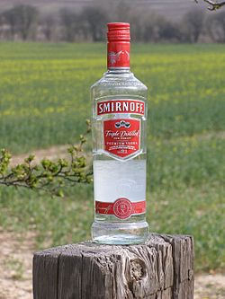 Smirnoff wikipedia the free encyclopedia - Picture of smirnoff vodka bottle ...