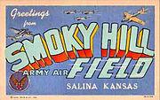 Smoky Hill Army Airfield - Kansas -Postcard