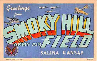 Schilling Air Force Base - World War II postcard