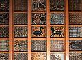 Socarrats de sostre procedents del palau del marqués de Dosaigües, museu Nacional de Ceràmica de València.JPG