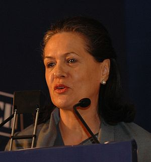 Sonia Gandhi, Chairperson, United Progressive ...
