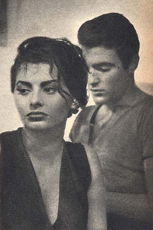 Rik Battaglia - Sophia Loren and Battaglia in The River Girl (1954)