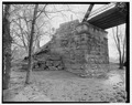 South abutment. - River Vale Bridge, Spanning White River on County Road 27, Bedford, Lawrence County, IN HAER IND,47-BED.V,2-13.tif